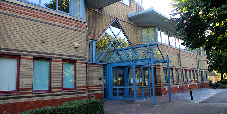 Exterior photograph of Cardiff office space